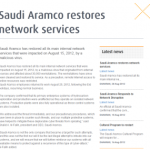 Saudi Aramco Admits 30K workstations affected
