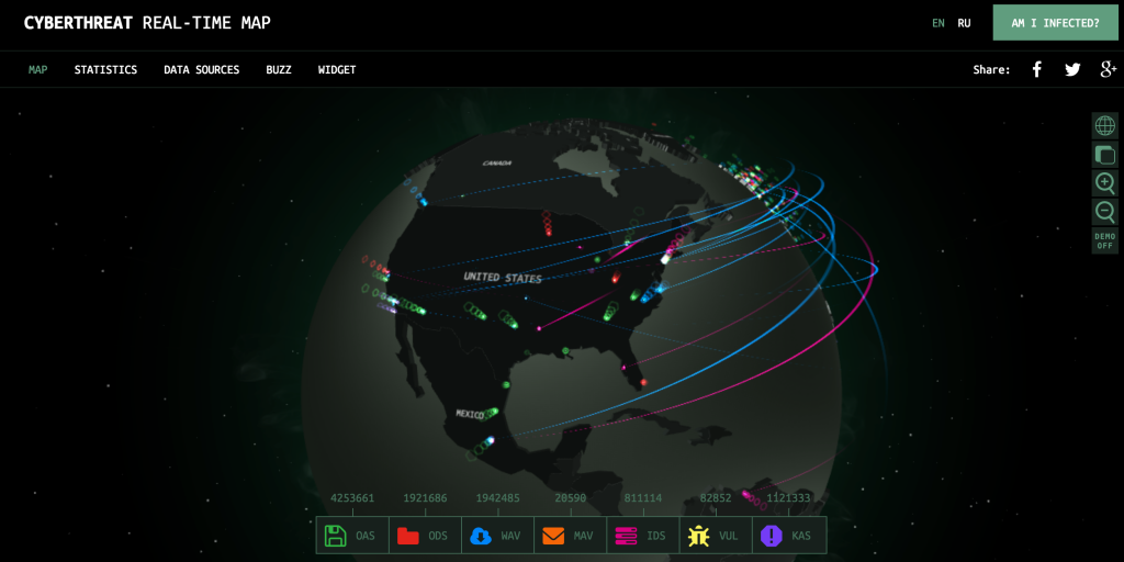 Kaspersky Cyber Threat Real-Time Map